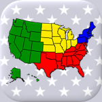 50 US States Map Capitals Flags – American Quiz APK MOD Unlimited Money 2.3 for android