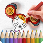 Fidget Spinner Coloring Books APK (MOD, Unlimited Money) 2.0.5 for android