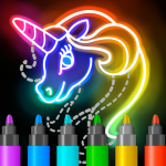Learn to Draw Glow Cartoon APK (MOD, Unlimited Money) 1.0.15 for android