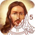 Bible Coloring – Paint by Number Free Bible Games APK MOD Unlimited Money 2.1.6 for android