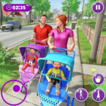 Virtual Mother New Baby Twins Family Simulator APK (MOD, Unlimited Money) 2.1.6 for android
