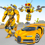 Bee Robot Car Transformation Game: Robot Car Games APK (MOD, Unlimited Money) 1.8 for android