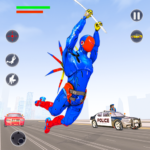 Flying Robot Rope Hero – Vegas Crime City Gangster APK MOD Unlimited Money 2.8 for android