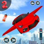 Flying Car Shooting Game Modern Car Games 2020 APK MOD Unlimited Money 1.1 for android