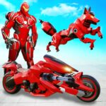 Wild Fox Transform Bike Robot Shooting Robot Game APK MOD Unlimited Money 12 for android
