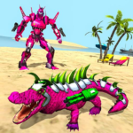 Real Robot Crocodile Simulator- Robot transform APK MOD Unlimited Money 1.0.16 for android