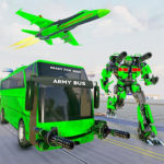 Army Bus Robot Transform Wars Air jet robot game APK MOD Unlimited Money 3.3 for android