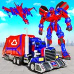 Flying Garbage Truck Robot Transform: Robot Games APK (MOD, Unlimited Money) 28 for android