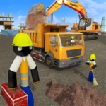 Stickman City Construction Excavator APK MOD Unlimited Money 1.5 for android
