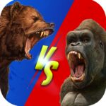 Wild Gorilla vs Wild Bear Ring Fighting Wild Hunt APK MOD Unlimited Money 0.3 for android