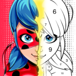 Miraculous Ladybug Cat Noir. Color by number APK MOD Unlimited Money 1.0.9 for android