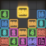 Drop Number Neon 2048 APK MOD Unlimited Money 1.0 for android