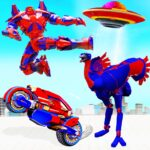 Flying Ostrich Robot Transform Bike Robot Games APK MOD Unlimited Money 38 for android