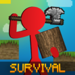 Stickman vs Multicraft Noob Survival APK MOD Unlimited Money 1.0.5 for android