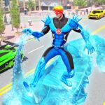 Flying Police Robot Snow Storm Hero: Crime City APK (MOD, Unlimited Money)  for android 6.0.0