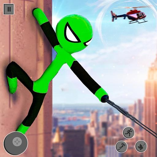 Flying Stickman Rope Hero Flying Hero Crime City APK MOD Unlimited Money for android