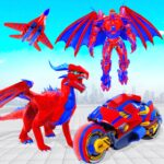 Flying Dragon Transport Truck Transform Robot Game APK (MOD, Unlimited Money)  for android 31