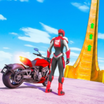 New Crazy Rope Spider Girl Bike Stunts Master 2021 APK MOD Unlimited Money for android